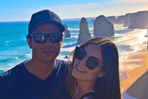 Ximena Navarrete y su esposo