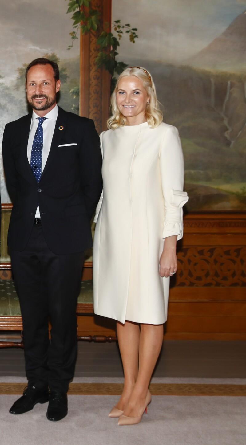 Príncipe Haakon y la princesa Mette-Marit de Noruega