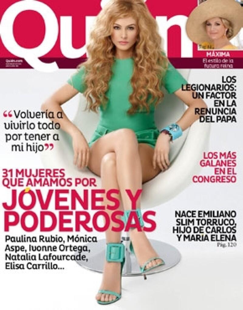 Paulina Rubio engalana este número en donde además presentamos a mujeres que queremos por jóvenes y poderosas.