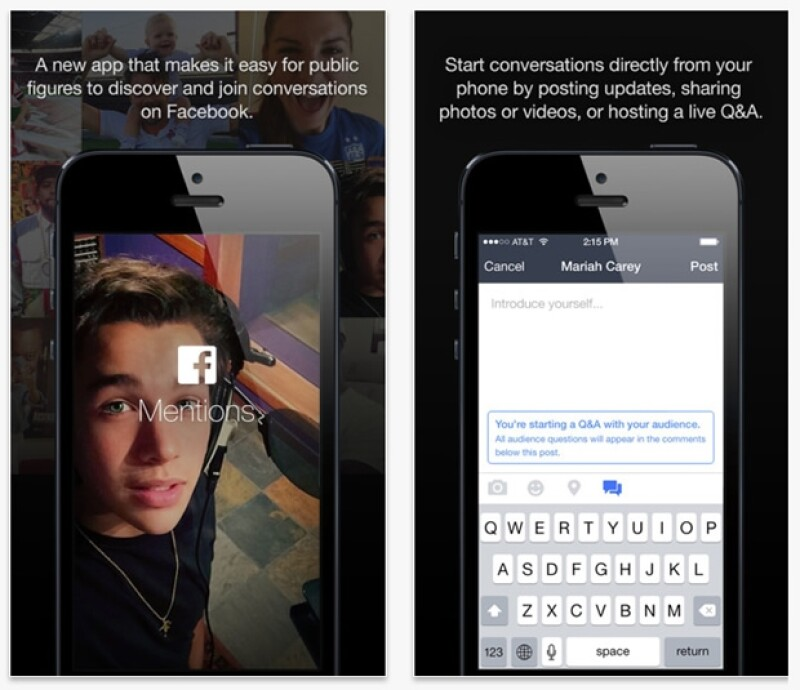 La nueva aplicación para iPhone, llamada Mentions, le permite a las celebridadaes un mejor control de su perfil e interactuar con sus fans. Jaime Camil, Sebastián Ruli y Thalía ya la usan.
