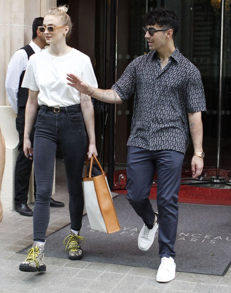 Joe Jonas and Sophie Turner out and about, Paris, France - 24 Jun 2019