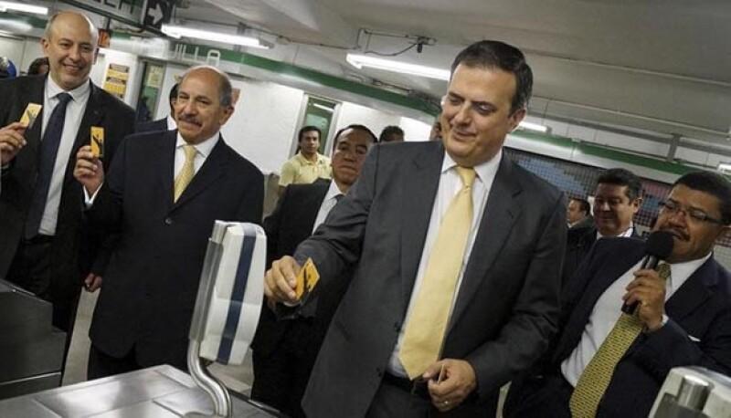 El actual Jefe de Gobierno Marcelo Ebrard.