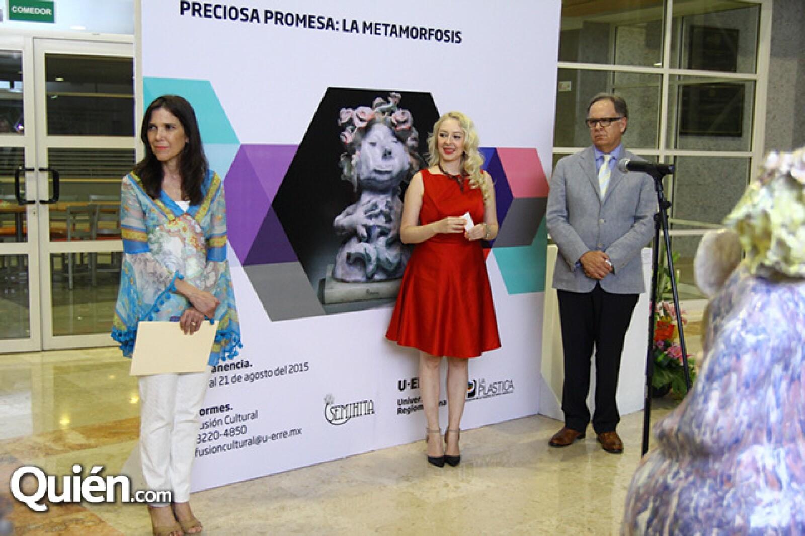 Marcela Benavides, Nancy Guzmán y Ángel Casan.