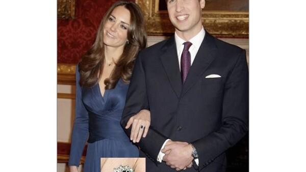 Un zafiro enorme rodeado de diamantes que usaba Kate Middleton llamó la atención de todo el mundo. El príncipe Guillermo explicó por qué lo eligió.