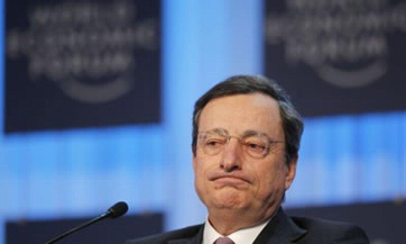 Draghi aseguró que hay partes de la eurozona donde el crédito está afectado seriamente. (Foto: AP)