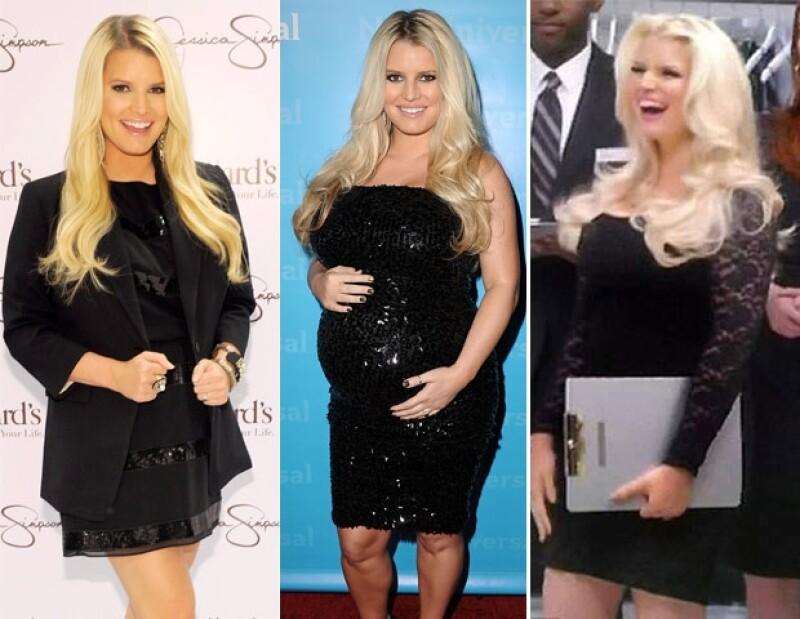 Antes de su primer embarazo, durante y así luce hoy en día.