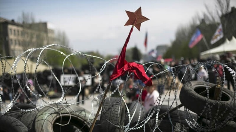 Ucrania Donetsk barricada