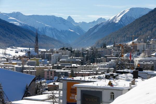 Una vista general de Davos, Suiza, donde anualmente se lleva a cabo el Foro Mundial Económico también conocido como Foro Davos.