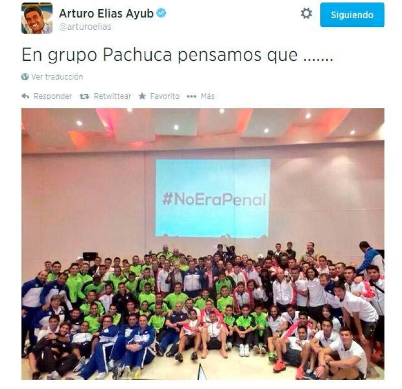 El empresario y el equipo Pachuca también expresaron su inconformidad ante la jugada que definió el partido.