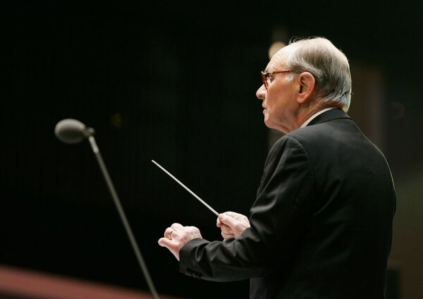 Olympics Day 3 - Composer Ennio Morricone Performs At Medals Plaza