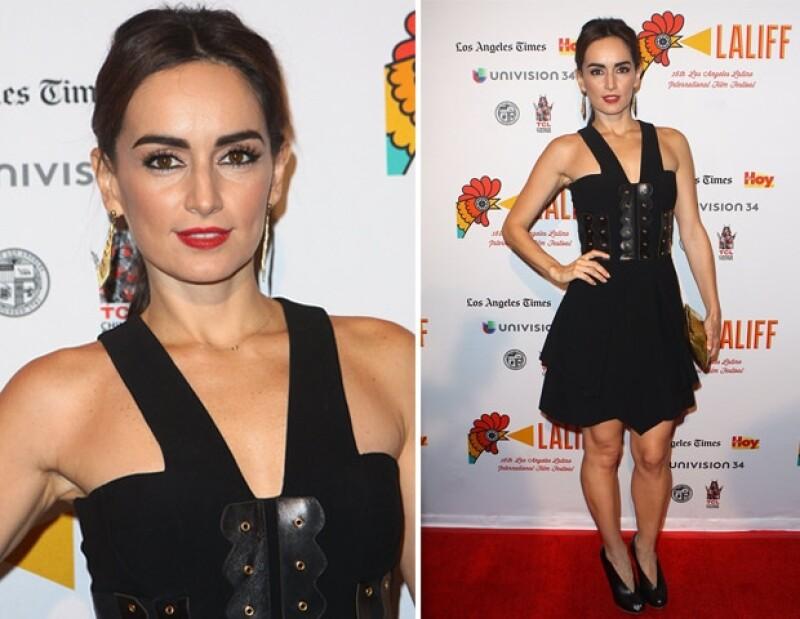 La actriz mexicana, Ana de la Reguera, también acudió a la exhibición.