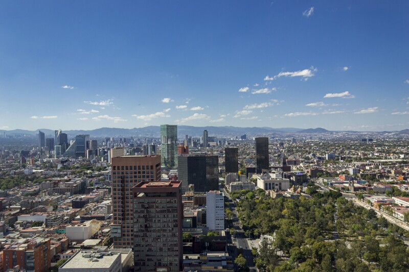 View of Mexico City from Latin American tower