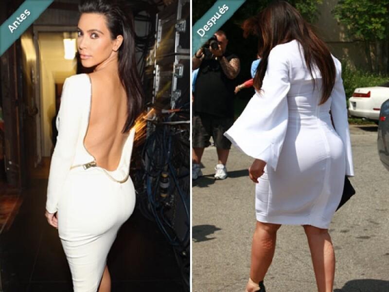 El trasero de Kim también ha aumentado notablemente su volumen.