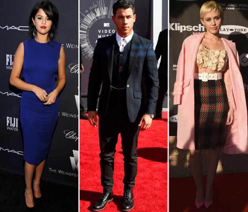 Selena Gomez y Miley Cyrus ocuparon el corazón de Nick Jonas.