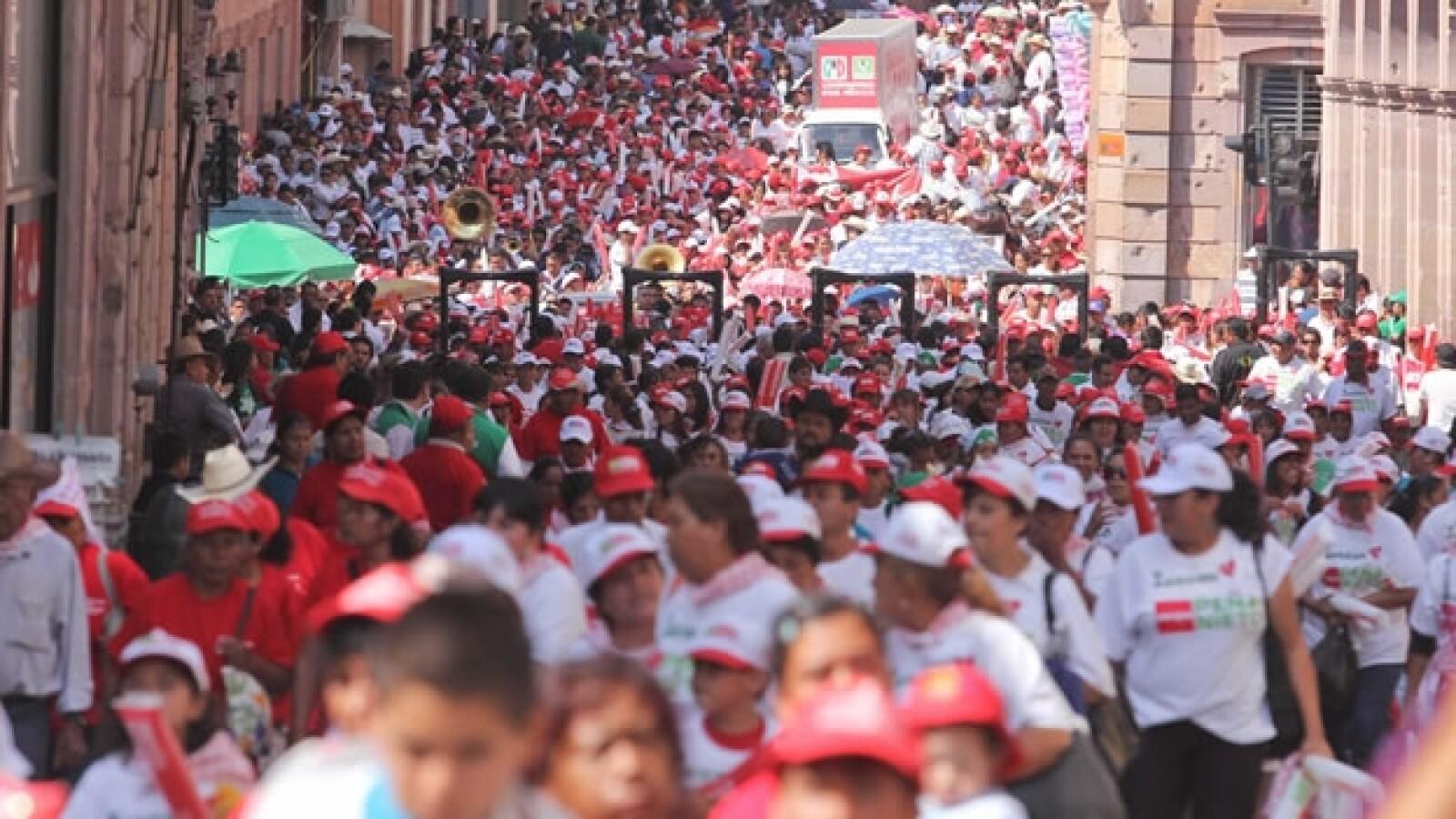 Seguidores de peña nieto dan su apoyo al candidato en zacatecas