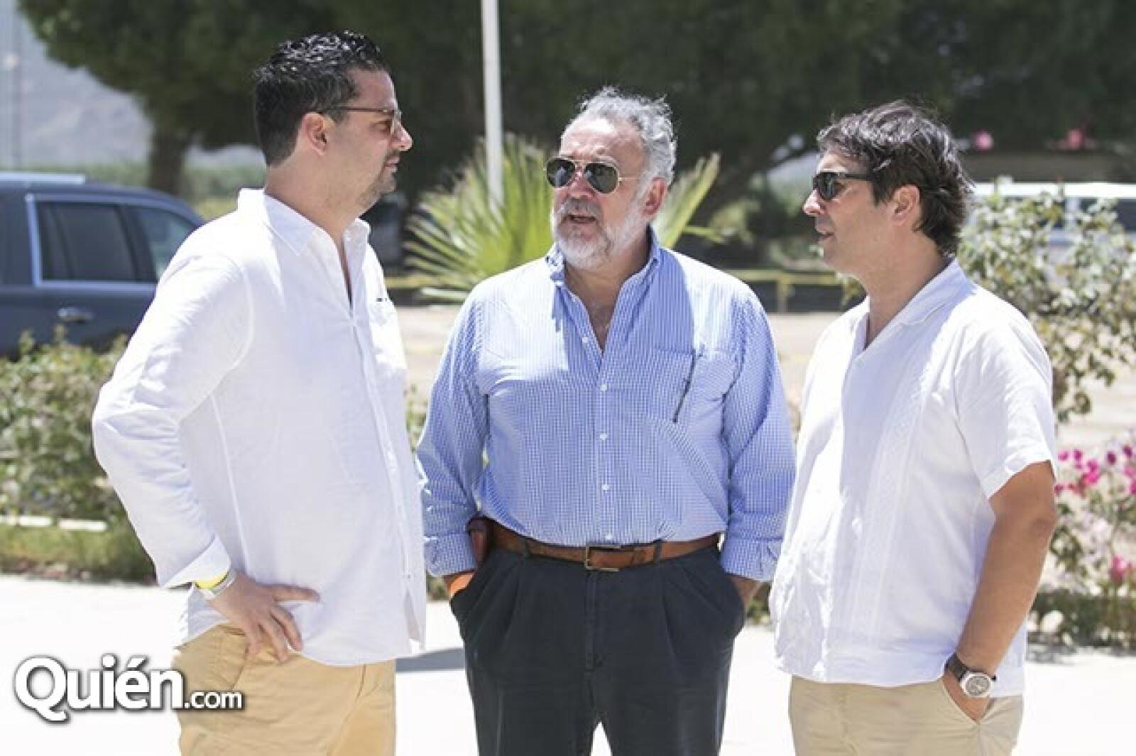Mauricio García,Enrique Zertuche y Sebastian Súarez