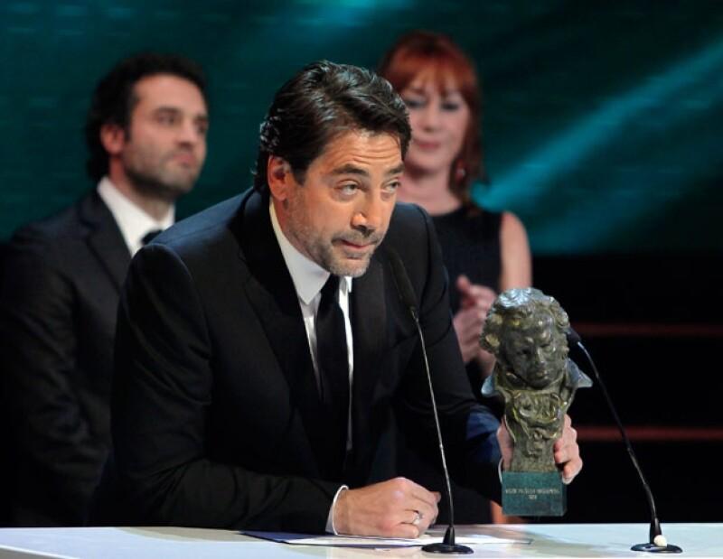 Javier Bardem, se llevó el sexto Goya de su carrera, aunque esta vez por su faceta como productor del documental: Hijos de las nubes, la última colonia.