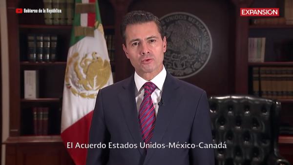 """El USMCA abrirá """"nuevas oportunidades de desarrollo para México"""", celebra Peña"""