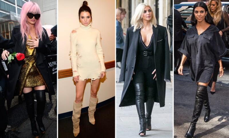 Botas altas con mini faldas, faldas midi o jeans súper austados son también una tendencia dentro de las estrellas de reality.