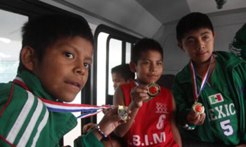 El equipo de los niños triquis siempre sale a la cancha con una mentalidad ganadora. (Foto: Especial)