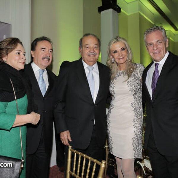 María Angélica de Gamboa,Emilio Gamboa Patrón,Carlos Slim,Gina Díez Barroso,Abraham Franklin