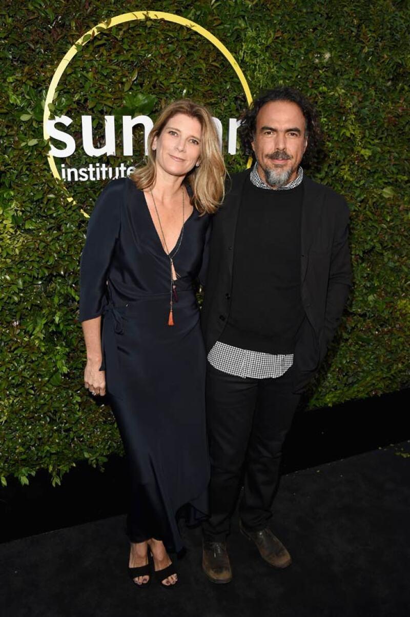 Acompañado de su esposa María Eladia Hagerman, el cineasta mexicano recibió el Vanguard Leadership Award, que premia lo mejor del cine independiente.