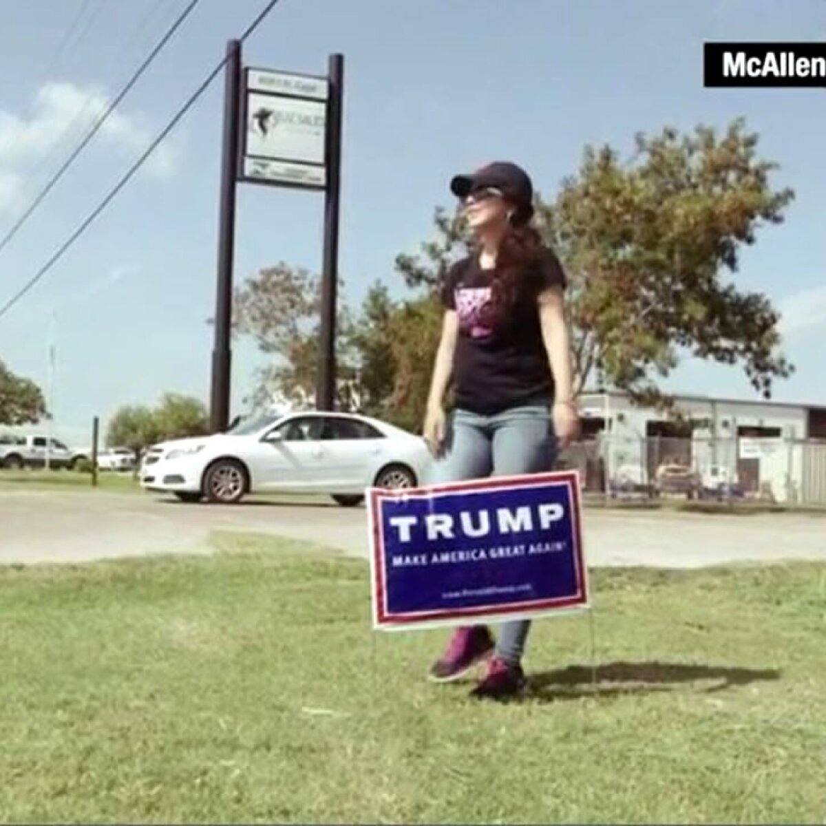 La latina que hace campaña a favor de Trump en la frontera con México