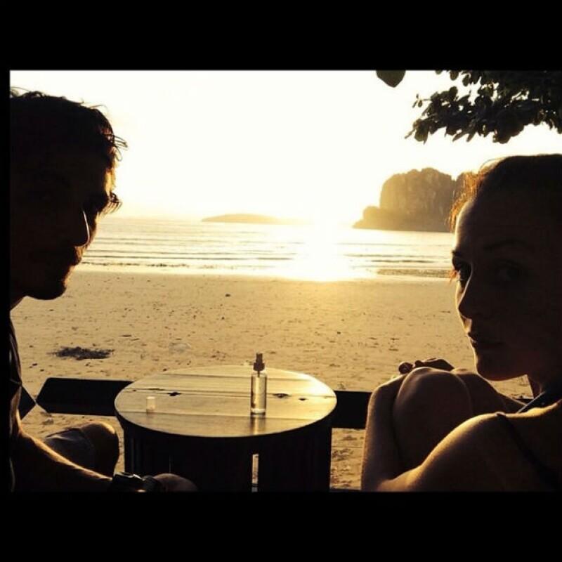 Zuria y Alberto disfrutaron de un romántico atardecer.