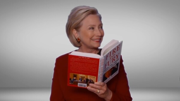 Hillary Clinton dedica un fragmento de 'Fire and Fury' a Donald Trump