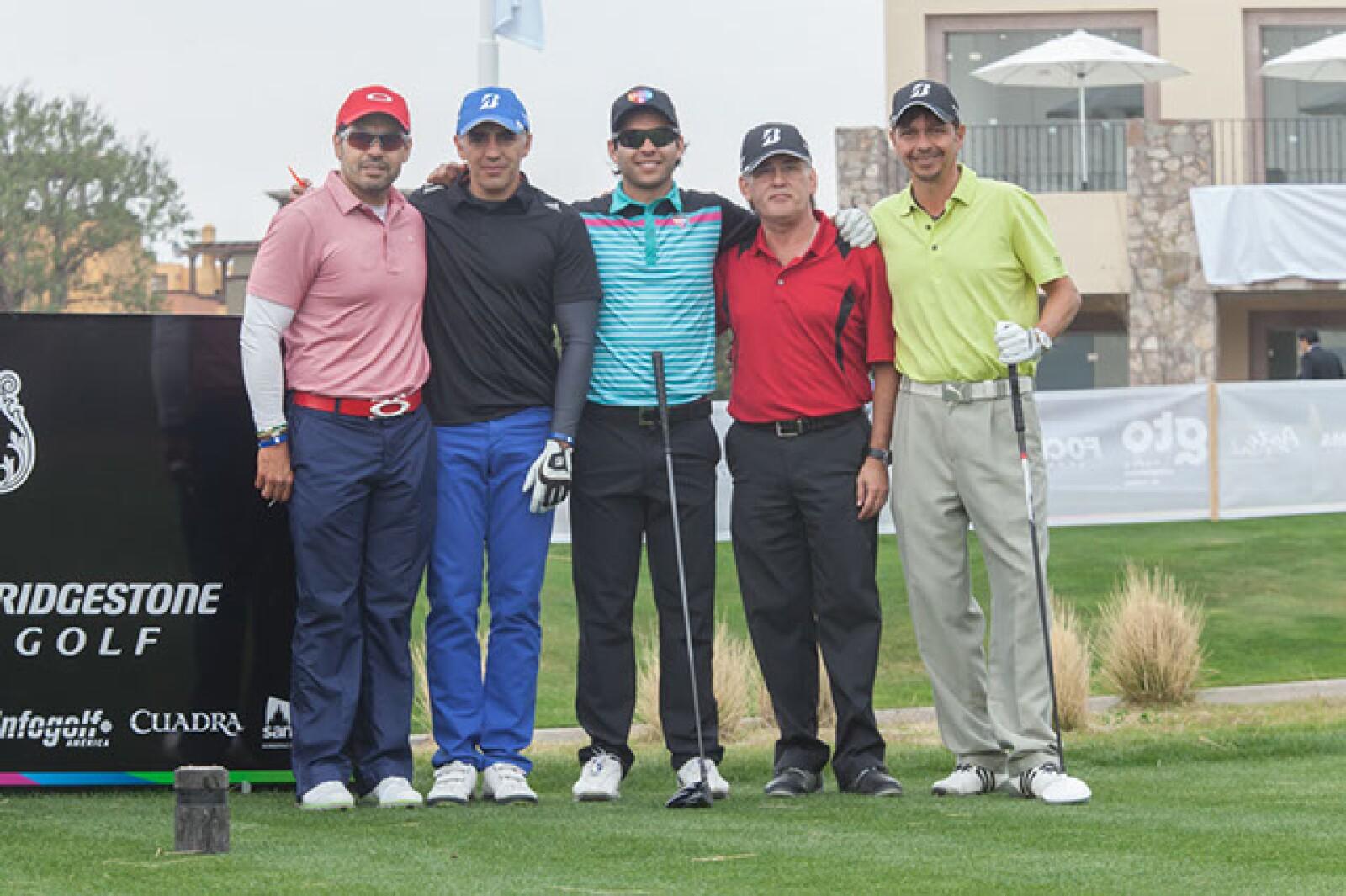 Juan Carlos Bañuelos,Germán Lemus,José Toledo,Abraxaz Silva y Sergio Origel