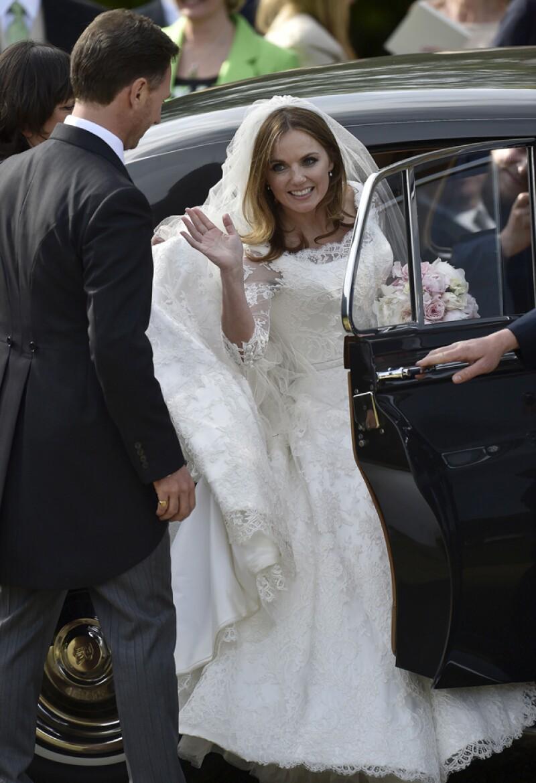 La boda de la ex Spice Girl se convirtió en todo un acontecimiento para sus fans.