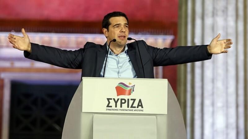 El líder del partido de izquierda Syriza de Grecia, Alexis Tsipras
