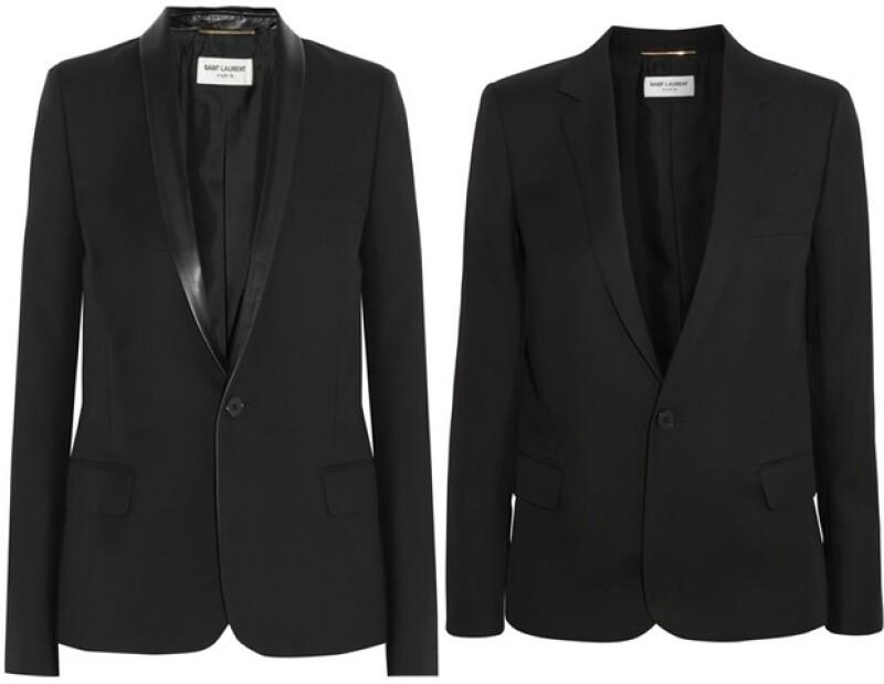 Un blazer negro de Saint Laurent no puede faltar en tu clóset, ¡es todo un must!
