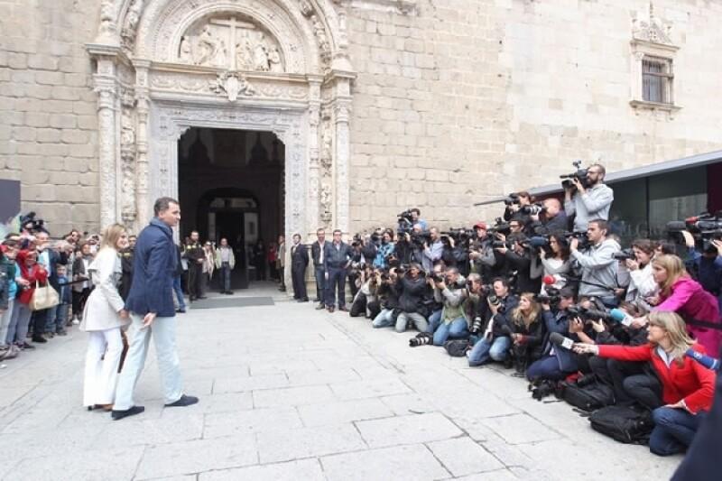 """EN este día la pareja viajó a Toleedo para ver la exposición """"El Griego de Toledo""""."""