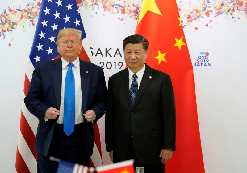 El presidente de Estados Unidos, Donald Trump, y el presidente de China, Xi Jinping, durante la cumbre del G20 en Osaka, Japón.