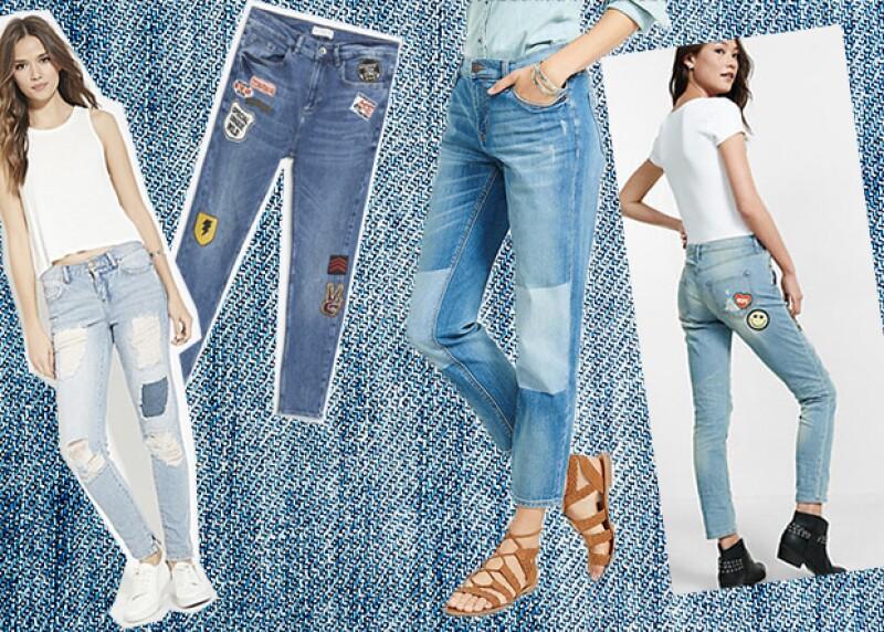 Puedes darle un aire divertido a tu look al atreverte a utilizar unos jeans de patchwork