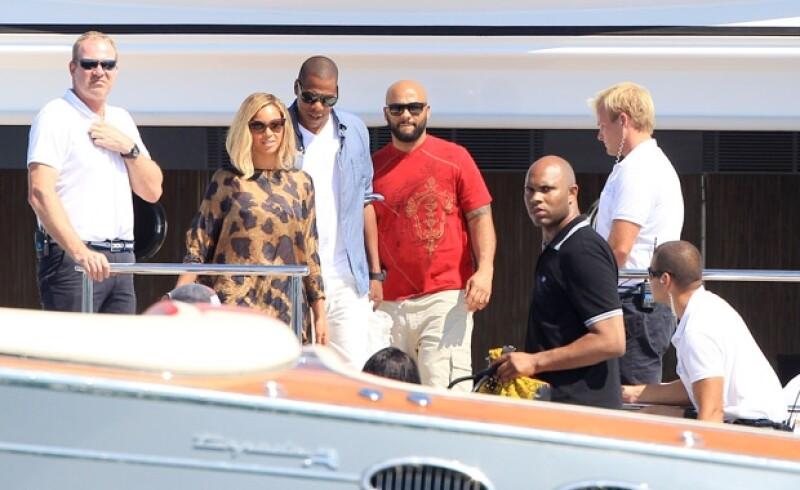 Beyoncé y Jay Z en un yate en Ibiza.