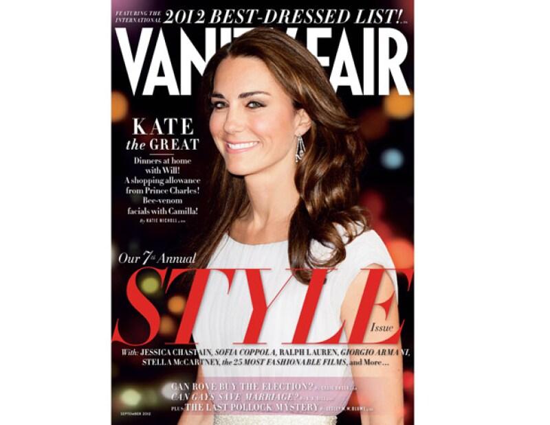 La revista Vanity Fair escogió a la duquesa de Cambridge como la mujer con más estilo: único e inigualable. En esta lista también aparece el príncipe Enrique.