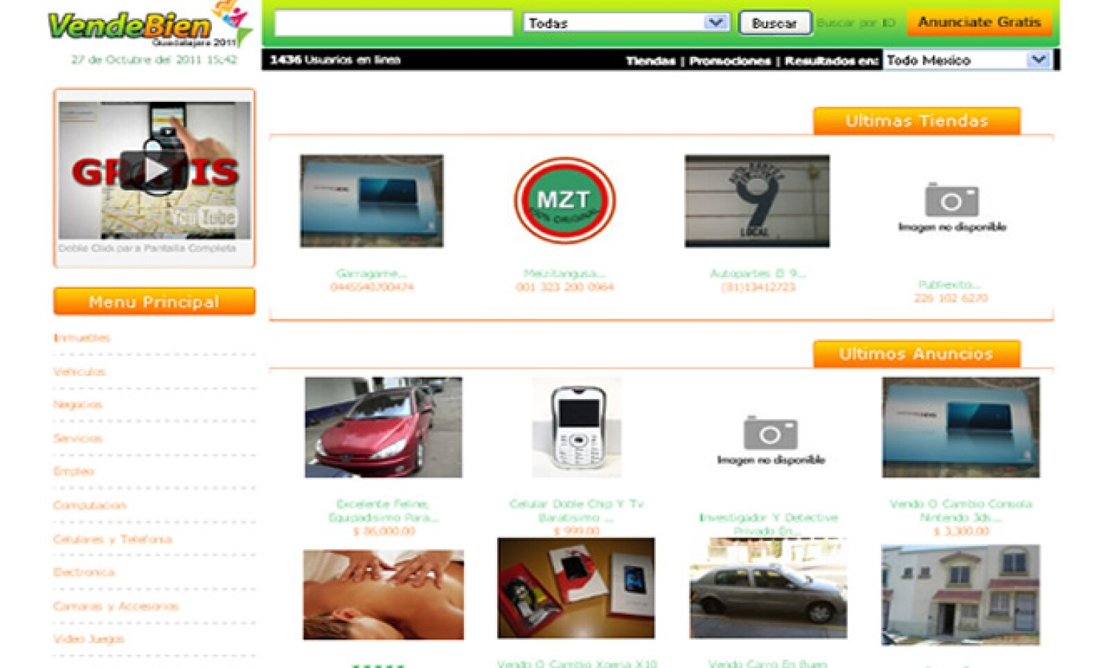 Dentro de la categoría de 'Clasificados' se encuentra VendeBien, un portal donde el usuario puede crear todos los detalles de su propia tienda en línea.