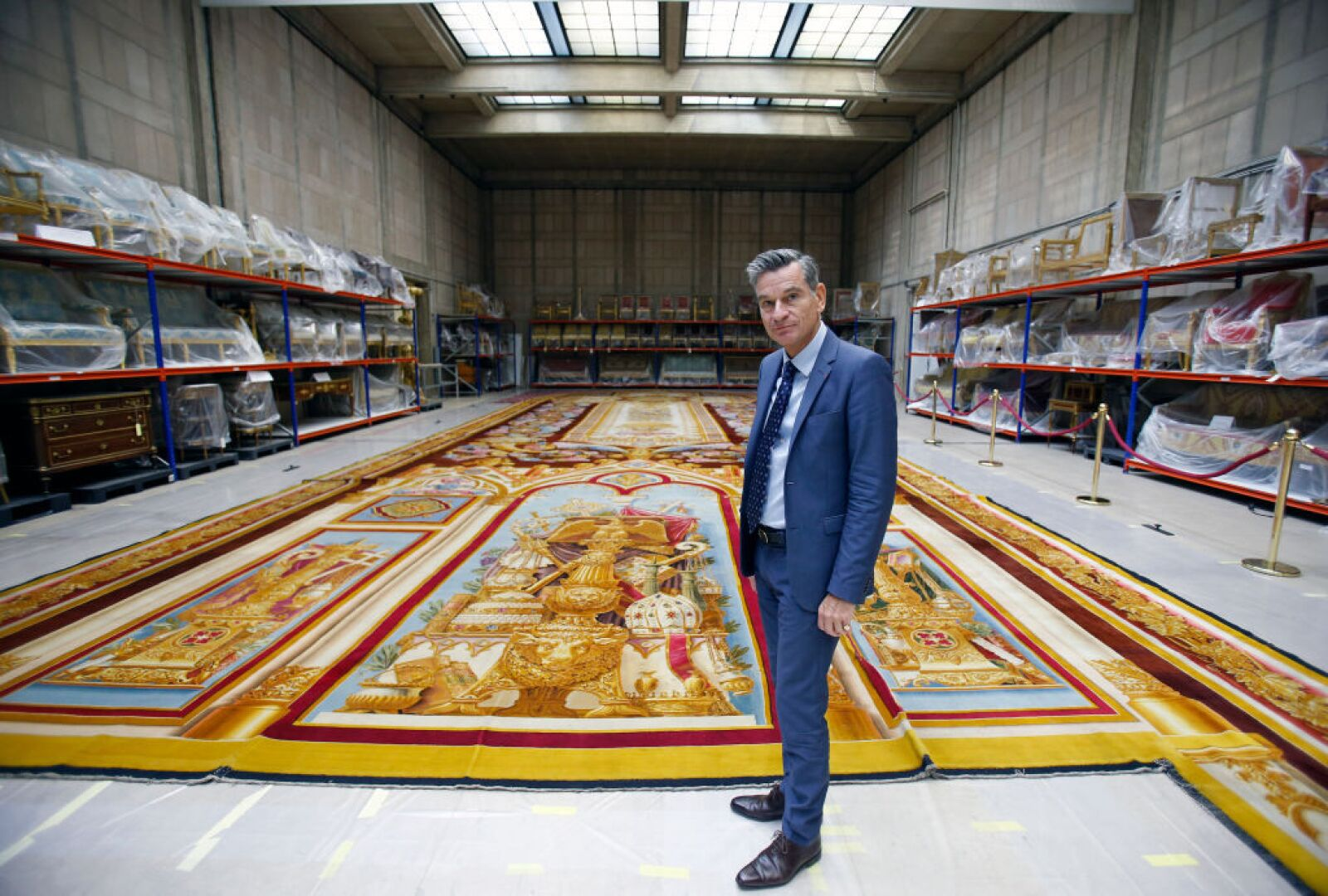 The Fire-damaged Carpet From The Notre Dame Cathedral Goes On Display Ahead Of Renovation