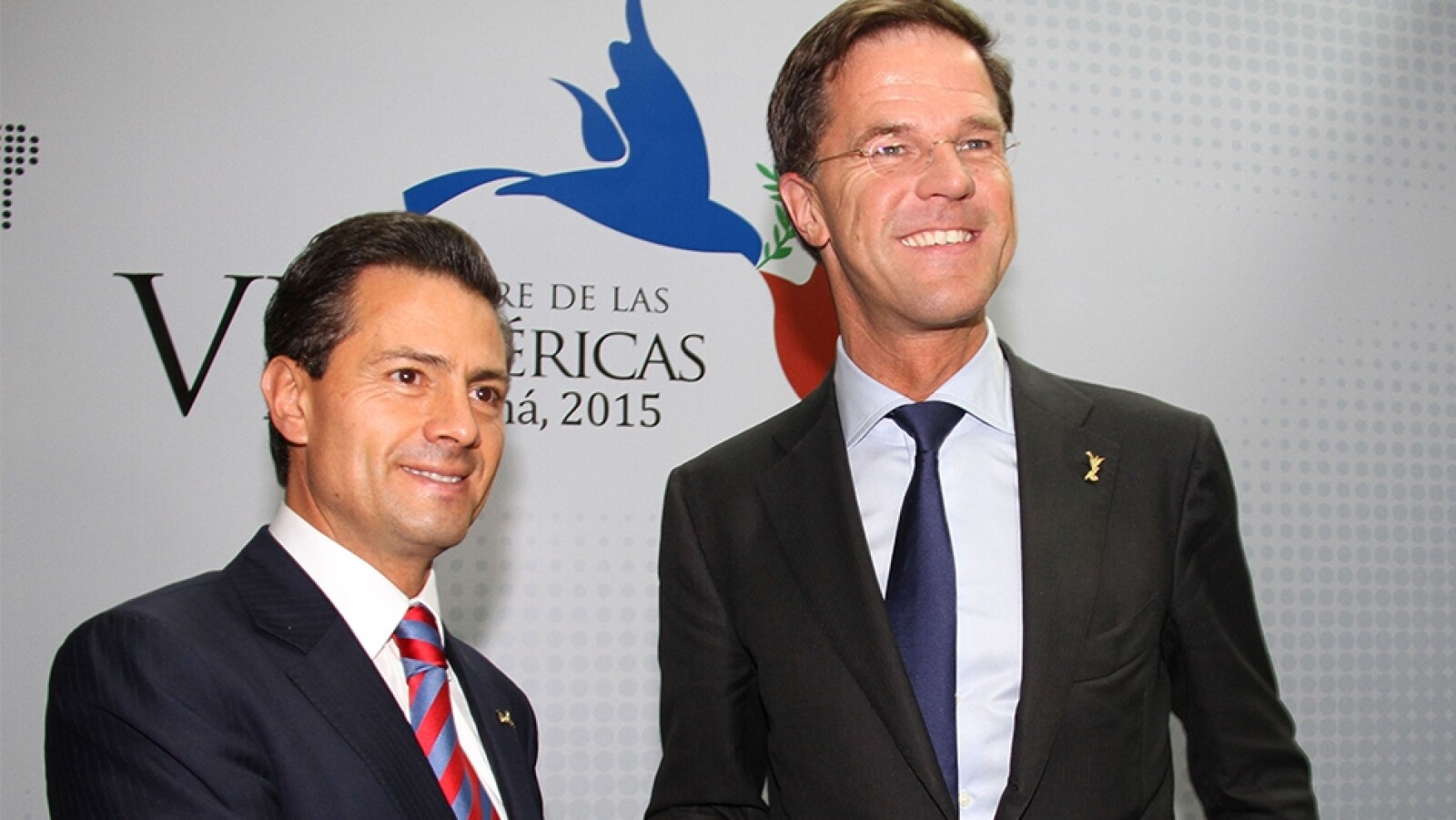 Enrique Peña y Mark Rutte