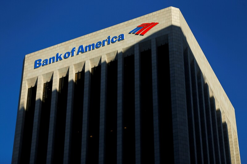 FILE PHOTO: The Bank of America building is shown in Los Angeles, California