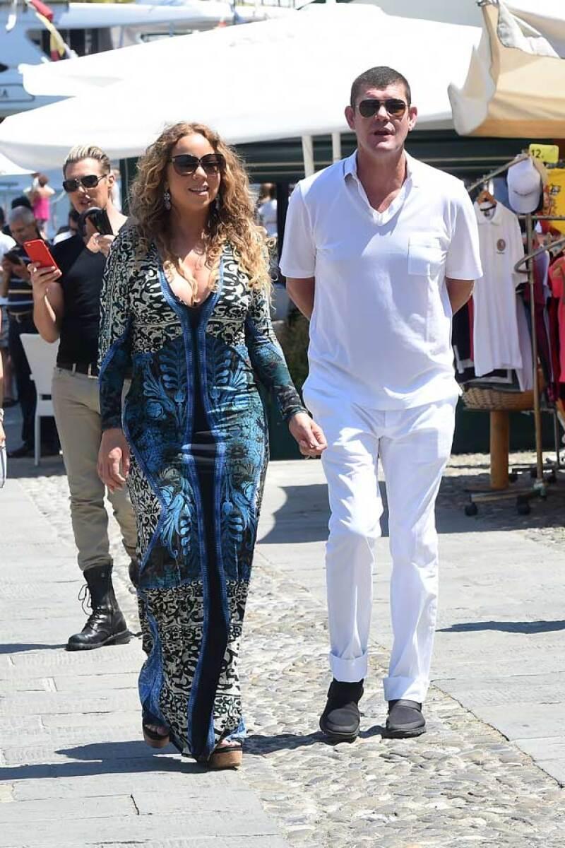 La pareja ha sido captada de vacaciones en Portofino, Italia.