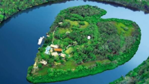 El oasis en forma de corazón de la isla Makepeace en Australia es el hogar en Australia del jefe de Virgin, Richard Branson. (Foto: Makepeace Island/Cortesía )