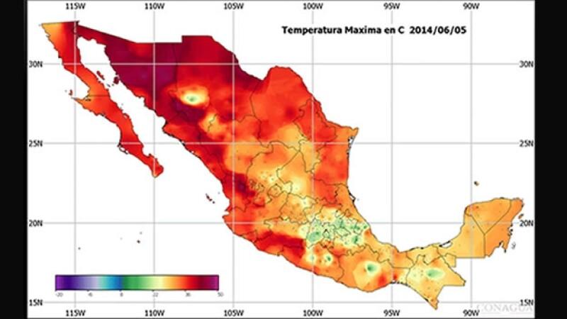 onda de calor Mexico