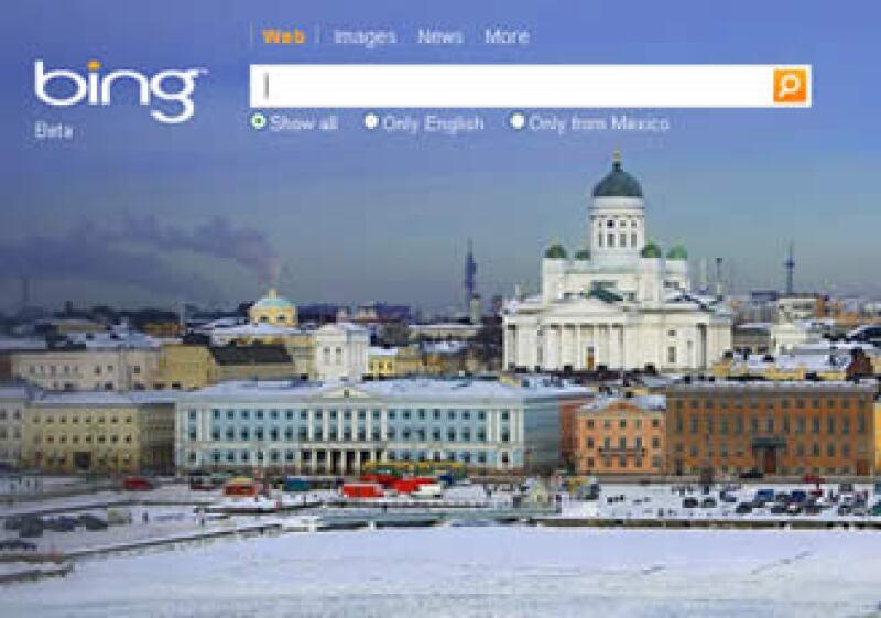 El buscador Bing de Microsoft ha ganado mercado en Estados Unidos y espera avanzar también en China. (Foto: Especial)