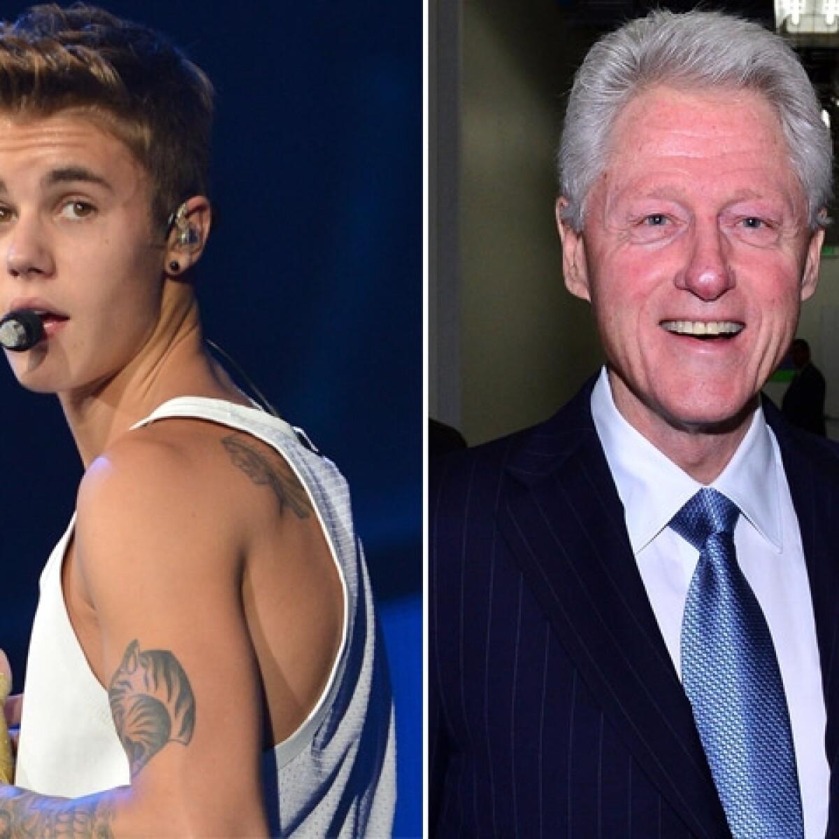 Justin Bieber le ofrece disculpas al ex presidente Bill Clinton
