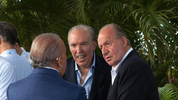 José Fanjul y el rey emérito Juan Carlos