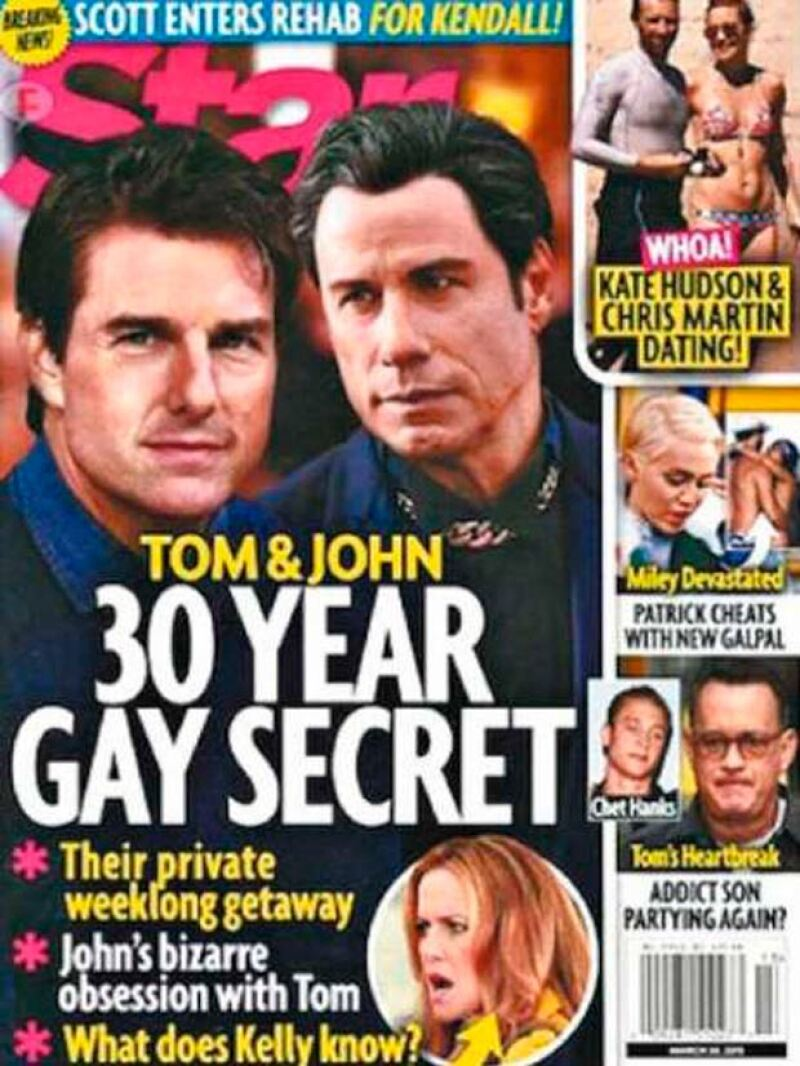 En la última edición de la revista Stars lanzó el artículo de que tanto John como Tom han mantenido una relación por más de 30 años.