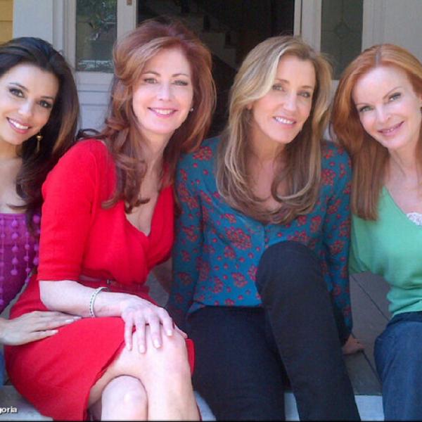 Aquí las `Esposas Desesperadas´: Eva Longoria, Dana Delany, Felicity Huffman y Marcia Cross.